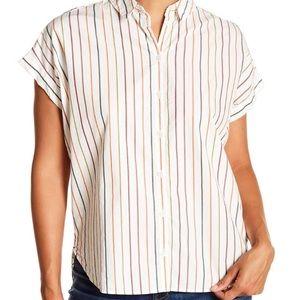 Madewell Central Sadie Multi Stripe Shirt Size M